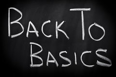 Back to basics Stock Image
