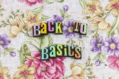 Back to basics communication. Fundamental essential education learning fun letterpress typography planning elementary school abc teaching students children child vector illustration