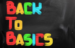 Back To Basics Concept. Concept Handwritten With Chalk On A Blackboard royalty free stock photography