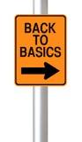 Back to Basics. A modified one way road sign indicating Back to Basics Royalty Free Stock Photo