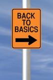 Back to Basics. A modified one way road sign indicating Back to Basics Royalty Free Stock Image
