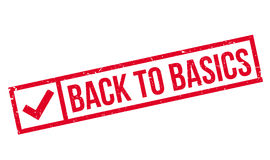Back To Basics rubber stamp Royalty Free Stock Images