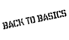 Back To Basics rubber stamp Stock Images