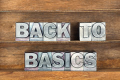 Back to basics tray Stock Images