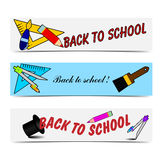 Back to chool banners Stock Photography