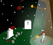Back to The Christmas. The dead man want to join the Christmas Stock Photos