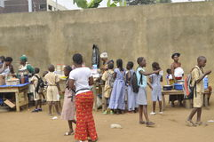 BACK TO CLASS IN IVORY COAST Stock Photo