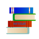 Back to College Books. Cartoon books with back to college text Royalty Free Stock Photos