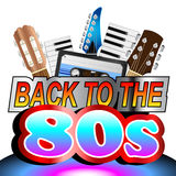 Back To The Eighties Background Stock Photos