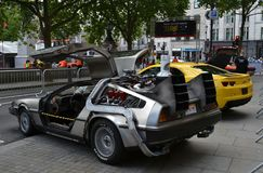 Back to the Future car Royalty Free Stock Images