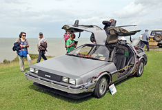Back to the future delorean car Stock Image
