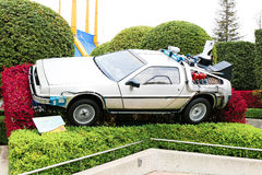 """Use """"Ready Player One"""" movie. Photo of replica car of """"De Lorean"""" Royalty Free Stock Photo"""