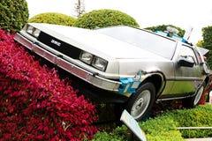 "Use ""Ready Player One"" movie. Photo of replica car of ""De Lorean"" Stock Photo"