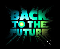 Back to the future. Lettering. Stock Image