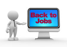 Back to jobs Royalty Free Stock Photo