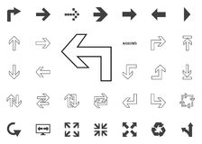 Back to the left arrow icon. Arrow illustration icons set. Back to the left arrow icon. Arrow illustration icons set vector illustration