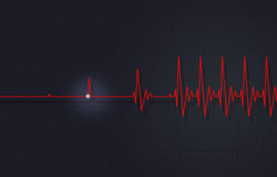 Back to Life. Concept illustration of back to life heart beat Royalty Free Stock Image