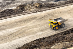 Back to pit for loading overburden stock image