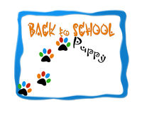 Back to puppy school image design logo. Background image design for puppy obedience school training Stock Image
