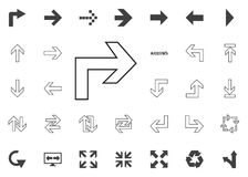Back to the right arrow icon. Arrow  illustration icons set. Back to the right arrow icon. Arrow  illustration icons set Royalty Free Stock Image