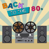 Back to the 80`s. Retro Colorful background. vector illustration
