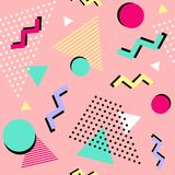 Back to 90s! Seamless geometric pattern. Vector illustration. Seamless geometric pattern. Vector illustration Stock Illustration