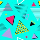 Back to 90s! Seamless geometric pattern. Vector illustration. Seamless abstract geometric vector pattern Vector Illustration