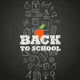 Back to scholl concept. Different education symbols Royalty Free Stock Image