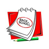 Back to scholl with reminder paper stock vector. EPS file available. see more images related vector illustration