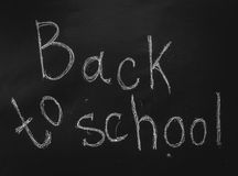 Back to schoo on blackboard Stock Photography
