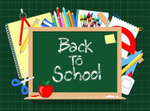 Back to schoo blackboard Royalty Free Stock Images