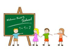 Back to school. Classroom with children at the first school day Royalty Free Stock Photo