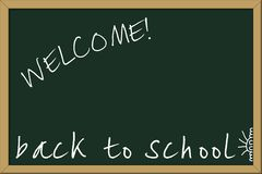 Back to school. Chalkboard, with Back to school message Stock Image