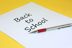 Back To School. Background possible to use for printing and project Stock Image
