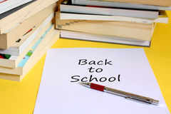 Back To School. Background possible to use for printing and project Royalty Free Stock Image