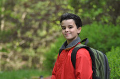 Back to School. Good-looking young boy is confident as he leaves for school Royalty Free Stock Photo