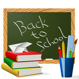Back to school. School year beginning concept  illustration Royalty Free Stock Images