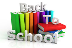 Back to school. 3D render Royalty Free Stock Photos