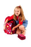 Back to school. My new schoolbag Royalty Free Stock Photo