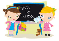 Back to school. Illustration with happy kids royalty free illustration
