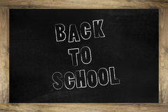 Back to school. Drawn on a blackboard Stock Images