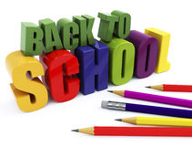 Back to school. Education background on white isolated Stock Photography