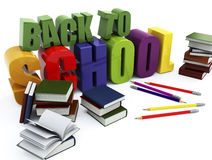 Back to school. Education background on white isolated Stock Photo