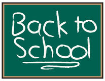 """Back to School. Chalkboard with the words """"back to school"""" written on it Stock Photos"""