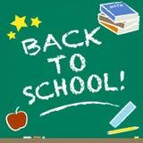 Back To School. Illustration of a blackboard celebrating back to school Stock Photos