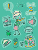Back to school. Kid doodles Stock Images