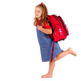 Back to school. My new schoolbag Royalty Free Stock Photos