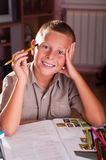 Back to school. Portrait of young boy Stock Photography