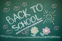 Back to school. Chalkboard. Green chalk blackboard written  with white chalk Royalty Free Stock Images