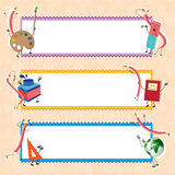 Back to school. Vector banners, educational theme Stock Photos